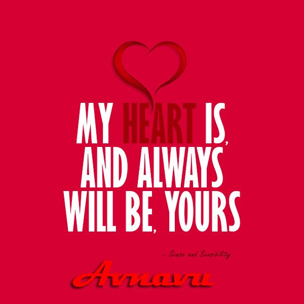 My heart is and always will be yours -  Love Romantic shayari by avnavu.com