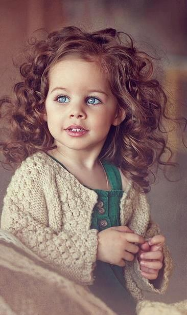 Little Girl With Curly Hairbaby Blue Little Girls Hair