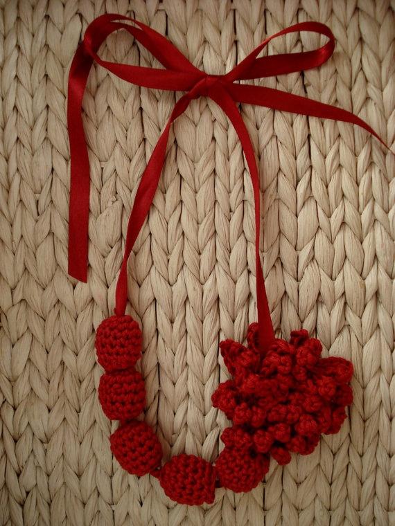 Collar de ganchillo - Sweet crochet necklace