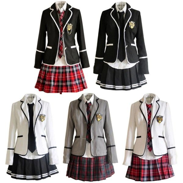 different grades different coat colors, maybe? white, gray, black, forest, cranberry, navy