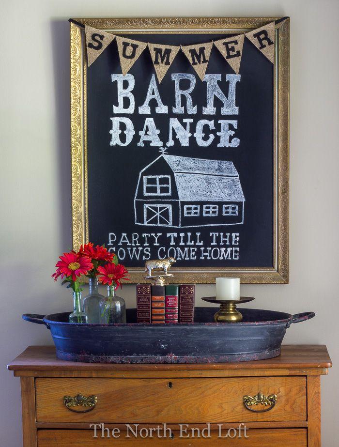 Summer Barn Dance Chalkboard Art