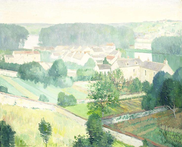 Het dorp Samois-sur-Seine, Frankrijk., Gerrit van Blaaderen, 1910 - 1914