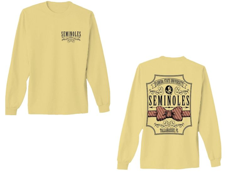 Florida State Bow Tie Comfort Colors Long Sleeve T-Shirt