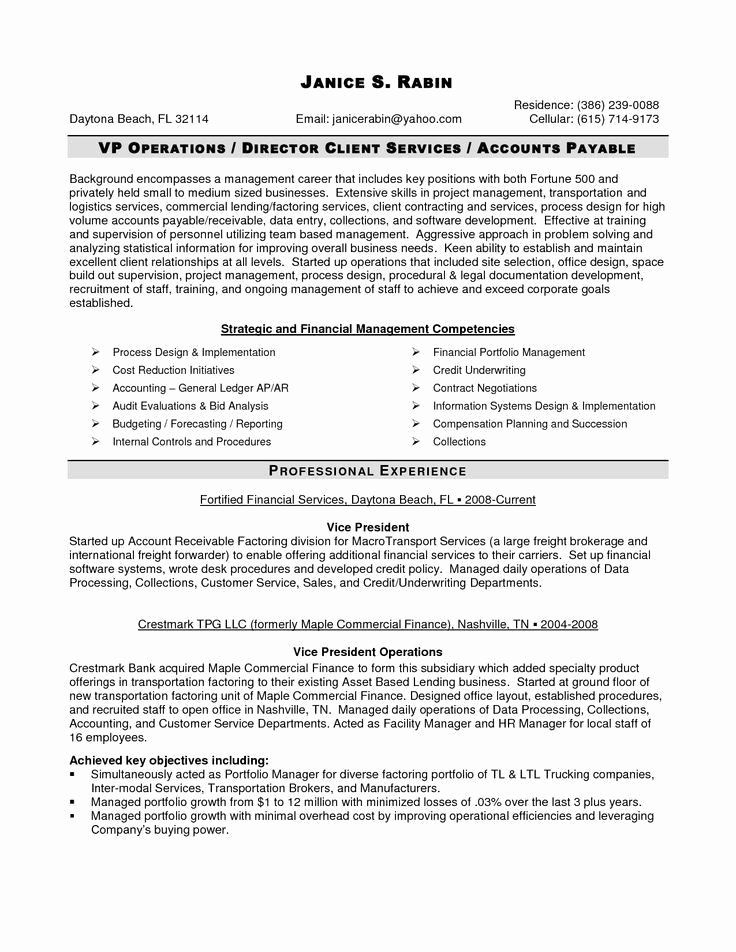 Accounts Payable Manager Resume Awesome Finance Manager Resume Cv Example Sample Templates Auditing Di 2020