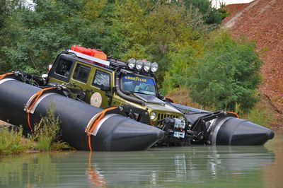 A Pontoon Jeep... that's different...
