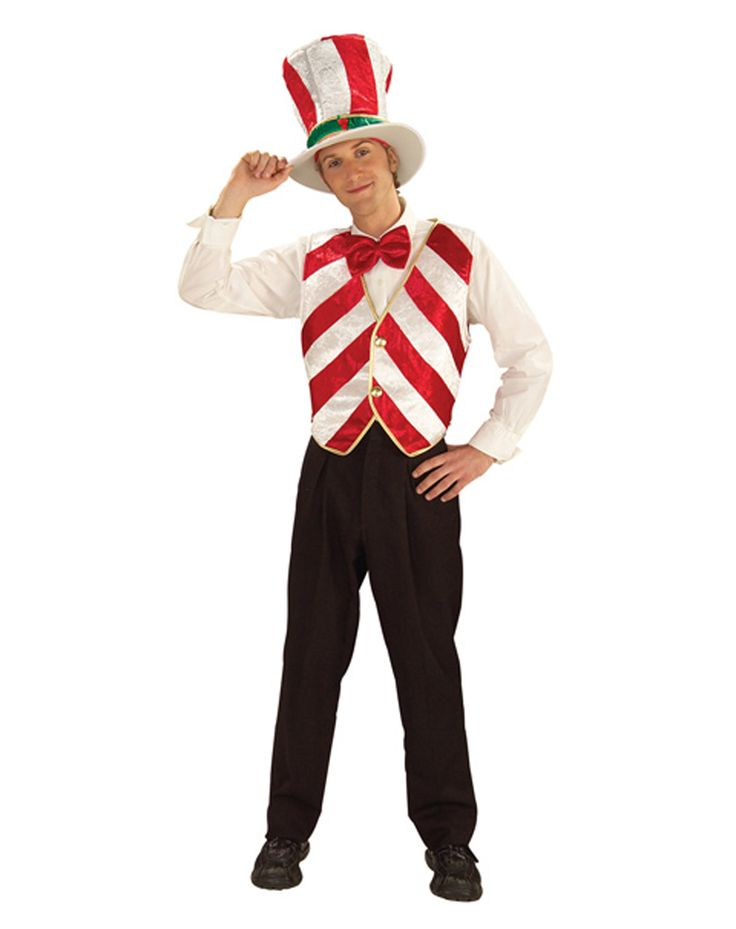 Mr. Peppermint Adult Men's Costume | Candyland Adult Party ...