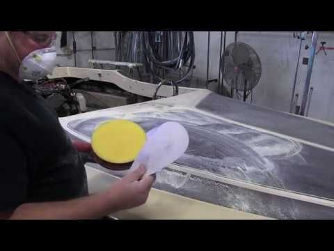 Jet Boat - Sanding Crows feet Cracking and Removing Interior