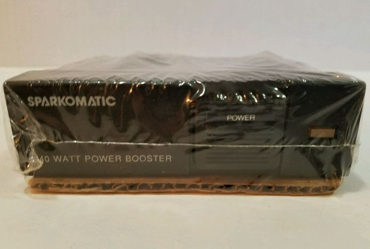 Vintage SPARKOMATIC 40W Power Booster LC52 Full Range Car Stereo 12V Amplifier #Sparkomatic