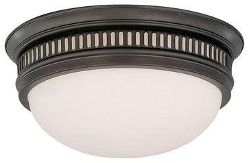 The Bartlett Flushmount Ceiling Light, Old Bronze - transitional - ceiling lighting - Barn Light Electric Co
