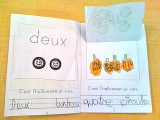 """free French mini book, how many? Staple book out of order to have students """"read"""" rather than """"recite"""" numbers."""