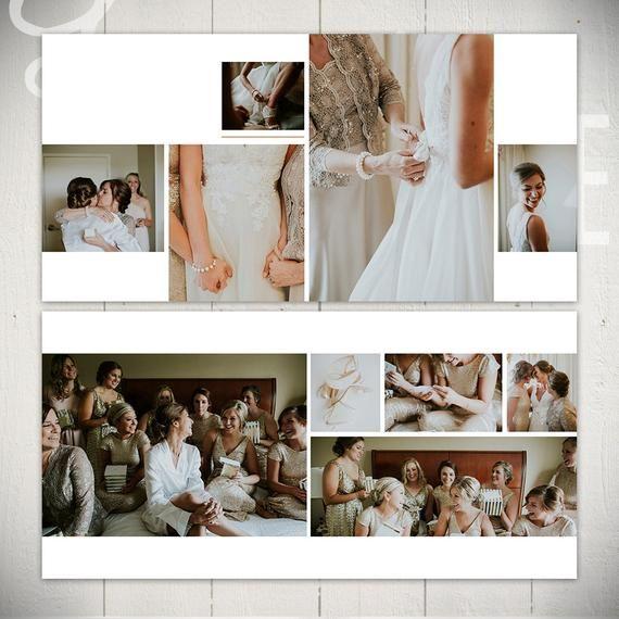 Hochzeit Album Vorlage: Black Tie – 10 x 10 Hochzeit Buch Vorlage para Photoshop  – Collage