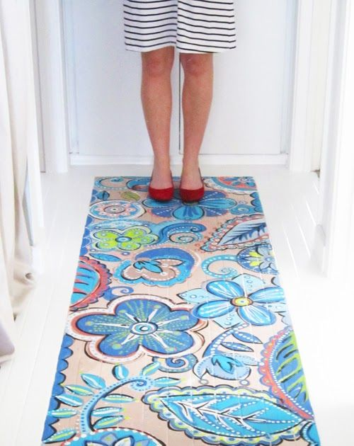 If you have been reading my blog for a while you will remember that over a year ago I decided to paint a pattern on our hallway floor- if yo...