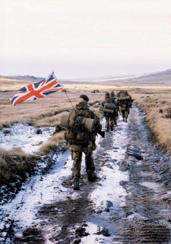 Royal Marines, Falklands war.