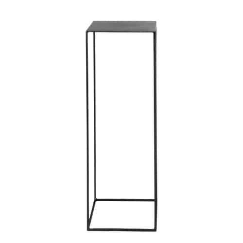 Leuchtertisch im Industrial-Stil aus Metall, B 30cm, schwarz