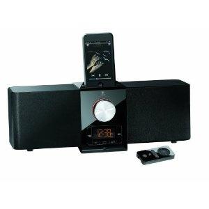 Sistema di altoparlanti Logitech Pure-Fi Express Plus per Apple iPod e iPhone, colore: Nero