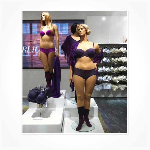 Mannequin buste couture tissu jouy bleu valentine