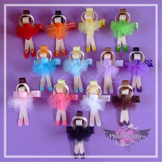 Ballerina hair clips inspiration