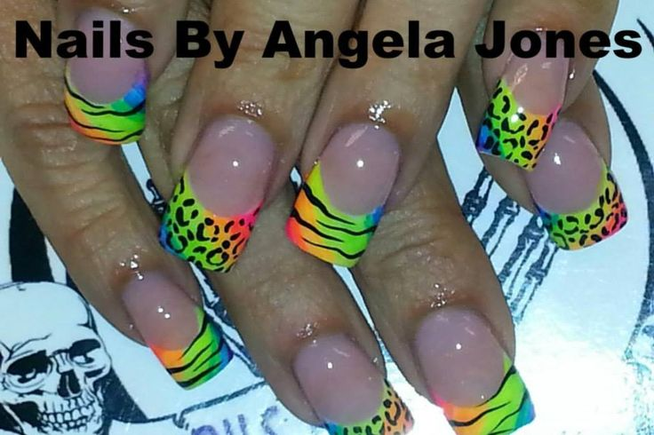 Ooooooo!!!!!!! Neon Nails with zebra print!!!!! My Favorite Style!!!!!!!