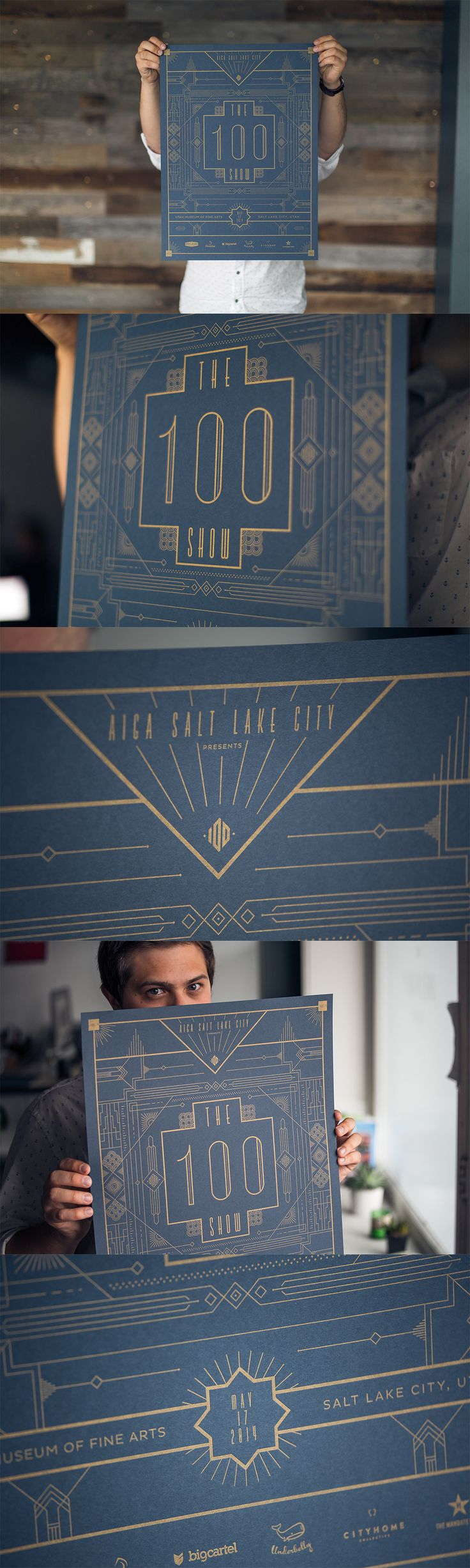 AIGA 100 Show Event Poster // Salt Lake City // Design by Underbelly…