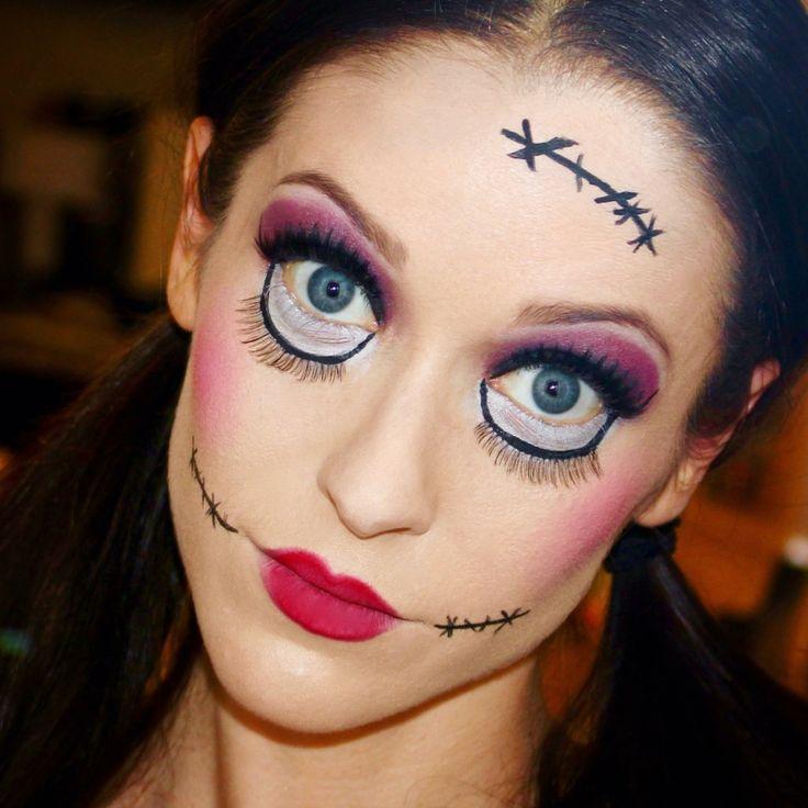Las 25 mejores ideas sobre pintura de cara de halloween - Rodillo para lacar ...