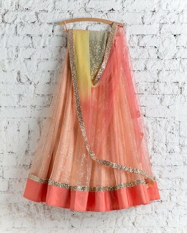 Peach and yellow shaded Lehenga To purchase this product mail us at houseof2@live.com or whatsapp us on +919833411702 for further detail #sari #saree #sarees #sareeday #sareelove #sequin #silver #traditional #ThePhotoDiary #traditionalwear #india #indian #instagood #indianwear #indooutfits #lacenet #fashion #fashion #fashionblogger #print #houseof2 #indianbride #indianwedding #indianfashion #bride #indianfashionblogger #indianstyle #indianfashion #banarasi #banarasisaree