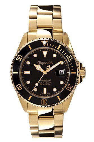 Gigandet Automatik Herren-Armbanduhr Sea Ground Taucheruhr Uhr Datum Analog Edelstahlarmband Schwarz Gold G2-004 - http://on-line-kaufen.de/gigandet/gigandet-automatik-herren-armbanduhr-sea-ground-7