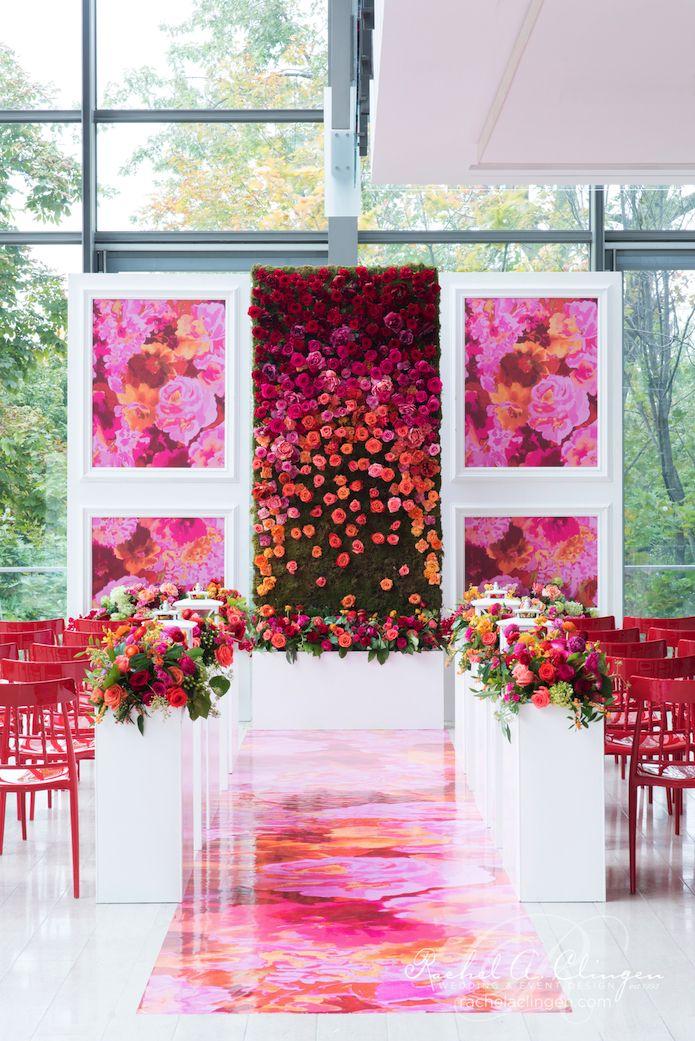 Bold color with wedding Decor Toronto Rachel A. Clingen Wedding & Event Design - Stylish wedding decor and flowers for Toronto