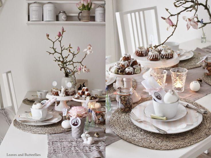 Leaves and Butterflies: Ein gedeckter Tisch zu Ostern