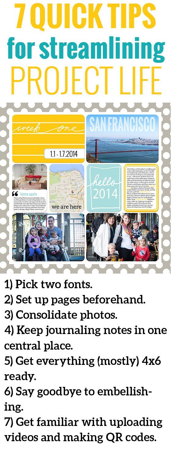 Project Life 2014: 7 Ways to Streamline Digital Scrapbooking
