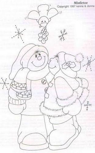 pareja de monos de nieve: