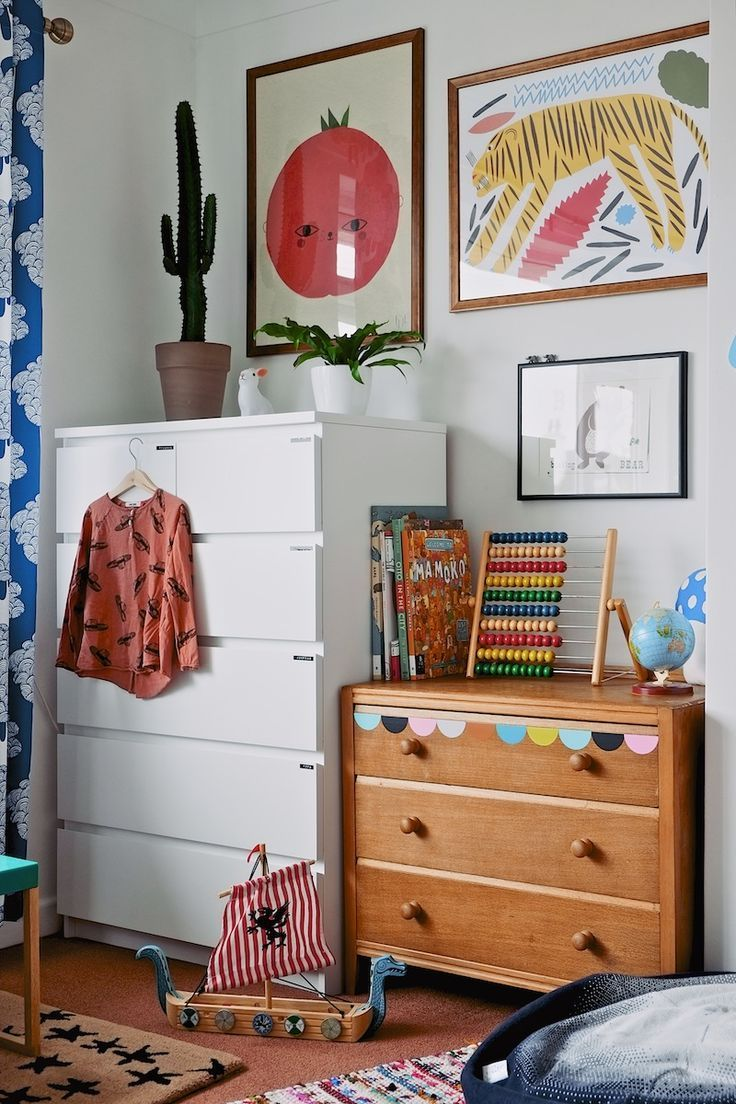 A mix of vintage and modern kids room seventy tree