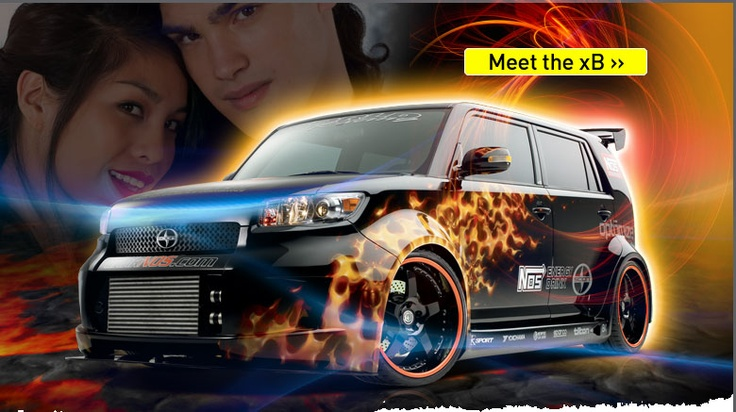 Decked out Scion Xbox cool flames!