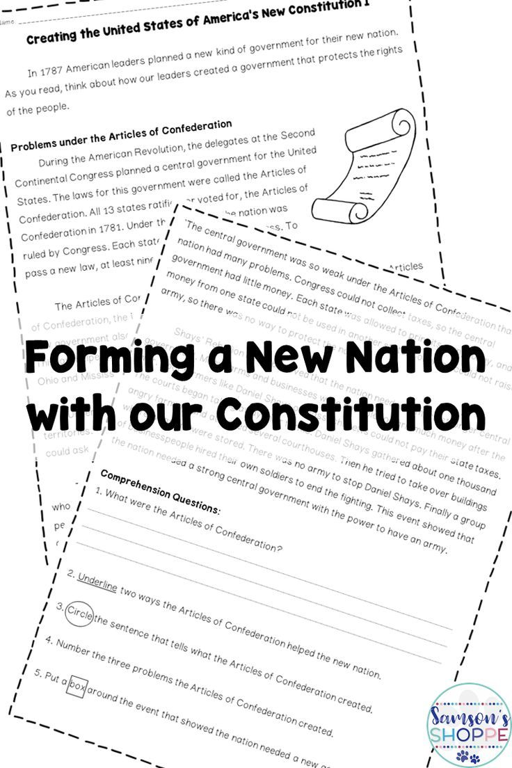 Forming A New Nation With The Constitution Nonfiction Article And Activity Teaching Constitution Nonfiction Articles Upper Elementary Resources