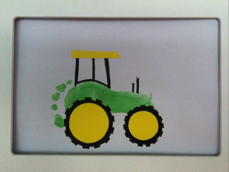 Footprint tractor kid fun pinterest tractors for Tractor art projects