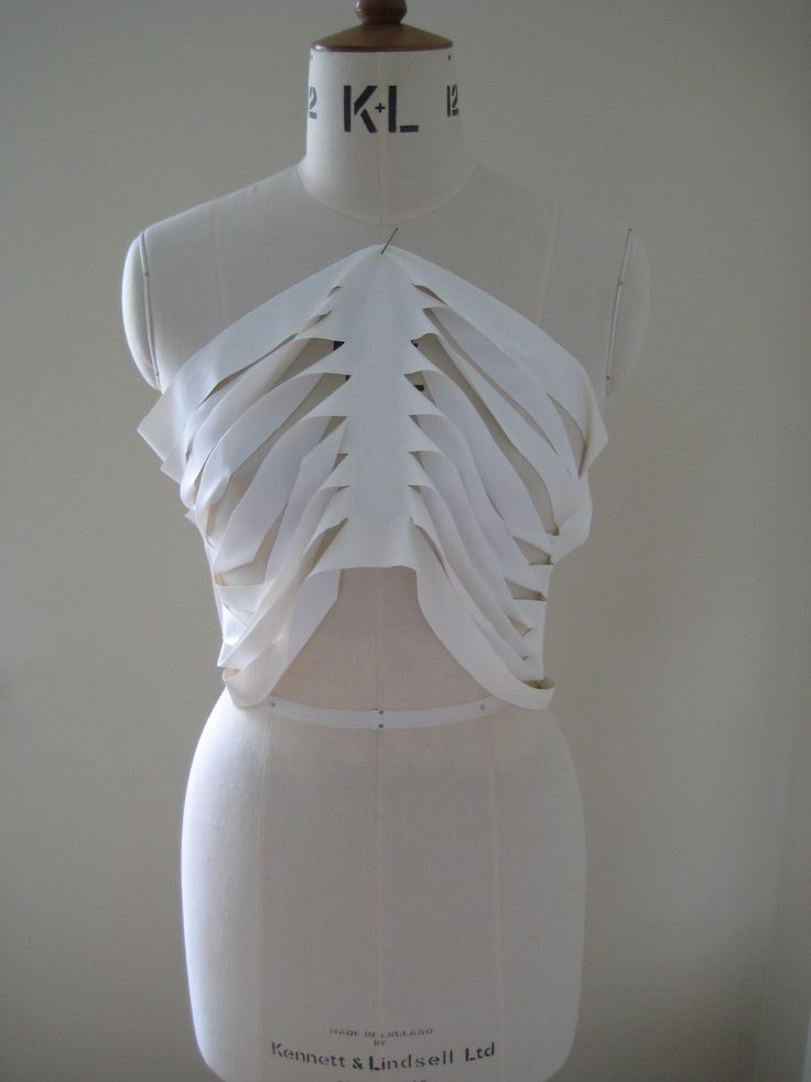 Draping Experiments To Create A Slash Cut Skeletal Top