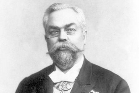 Anghel Saligny  / 1854-1925 / was a Romanian engineer, most famous for designing the Feteşti-Cernavodă railway bridge over the Danube, the longest bridge in Europe at that time