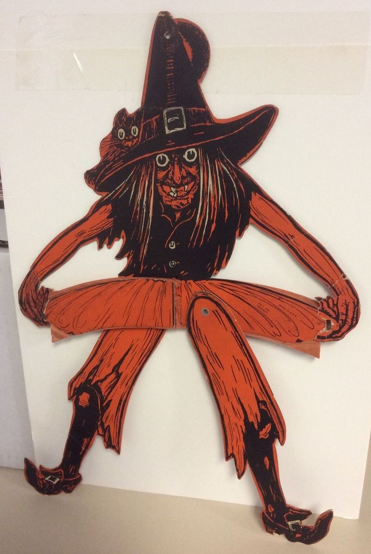 Vintage beistle halloween decorations - Beistle Tango Witch Halloween Decoration