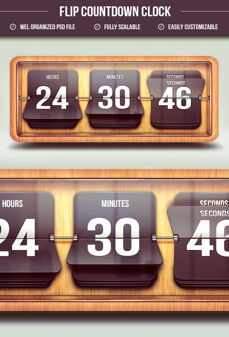 Vectorized Flip Countdown Clock - By Graphicsoulz