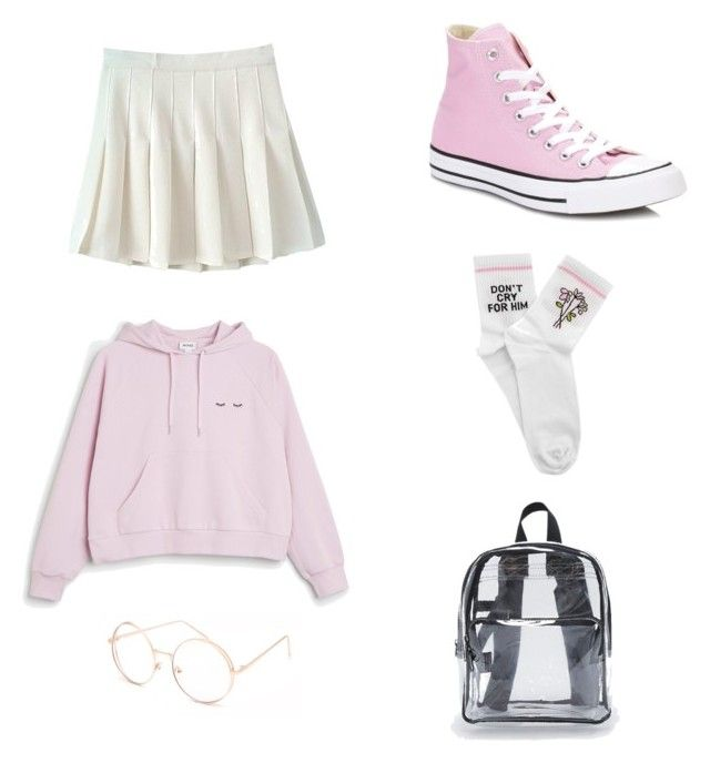 """Geen titel #17"" by shanisiavniel on Polyvore featuring mode, Monki, Yeah Bunny, Converse en Full Tilt"