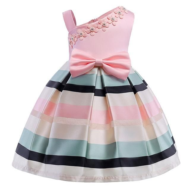 84a128f95 Girls floral Princess Party Dress Children Birthday Wedding clothes ...