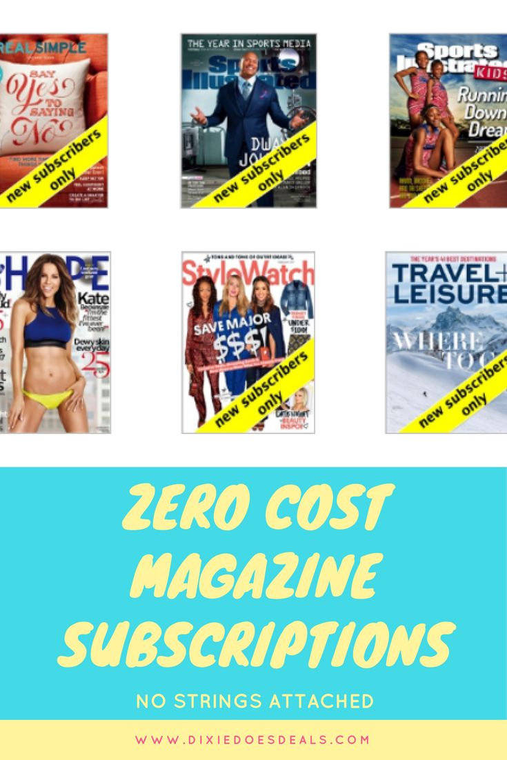 No Cost Magazine Subscription Includes Sports Illustrated Kids, Glamour & More: No Payment Info Needed!