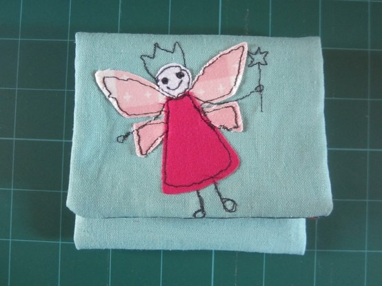 More Free-motion sewing - This time a tooth fairy case for my niece.
