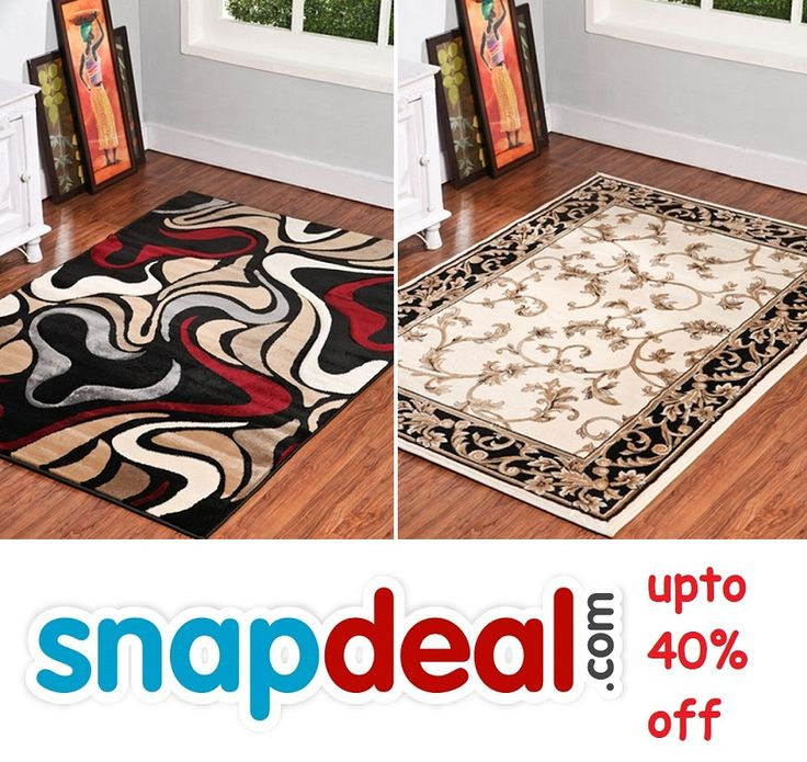 Get upto 40% off with #snapdeal on our #carpet, #rug, #shaggyCarpet designs and also find #doormats @ very attractive prices by following the #image.