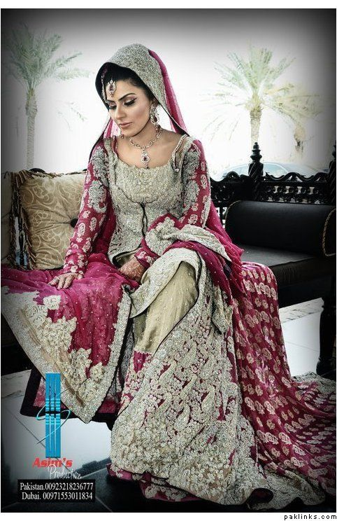 Bridal dress - for more follow my Indian Fashion Boards :)