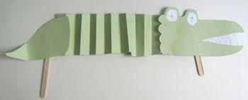 Crocodile puppet craft