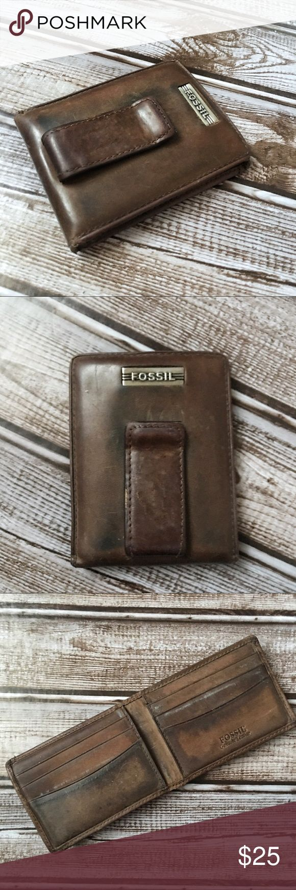 Vintage Fossil Men's Wallet Money Clip Vintage Fossil Men's Wallet Money Clip. Shows signs of wear consistent with age. Fossil Bags Wallets