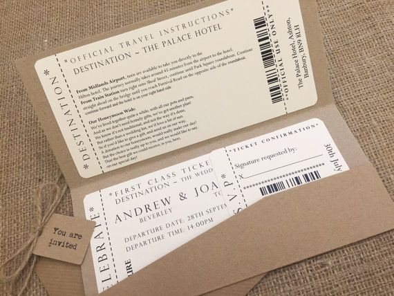22 best Wedding invites images on Pinterest Bridal invitations - invitations that look like concert tickets