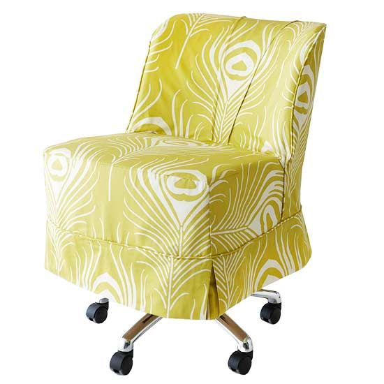 How many of us have desk chairs at home now .... make them PRETTY from BHG