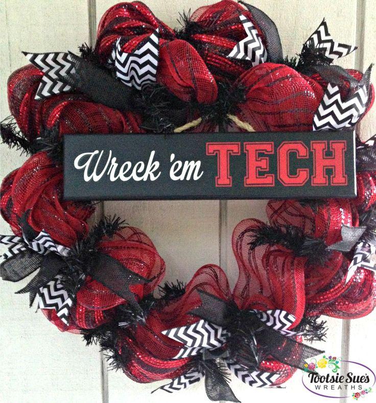 12 Best Texas Tech Wreaths Images On Pinterest