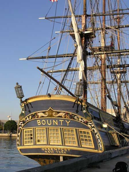 HMS Bounty Tall Ship (Sadly the Bounty was recently wrecked at sea.)                                                                                                                                                      More